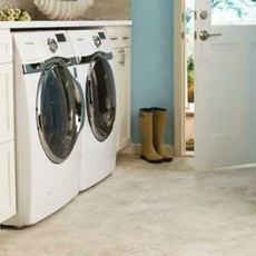 Laundry room flooring | Cherry City Interiors