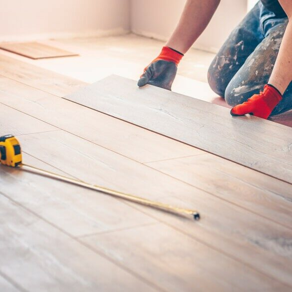 Hardwood installation | Cherry City Interiors